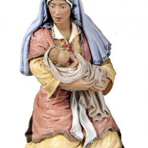 Virgen con niño de 20 cm.